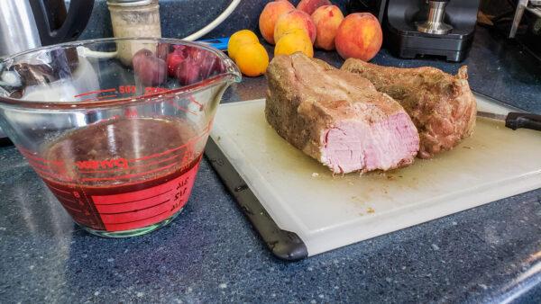 Sliced Pork Roast and Lost Juices